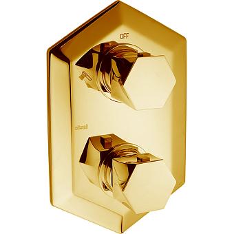 Cisal Cherie Встраиваемый термостатический смеситель с переключателем на 2 положения, цвет золото