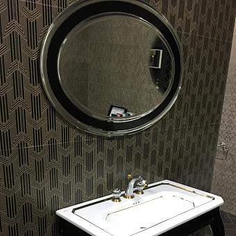 Noken Imagine Зеркало овальное, 100x70 см, цвет: черный