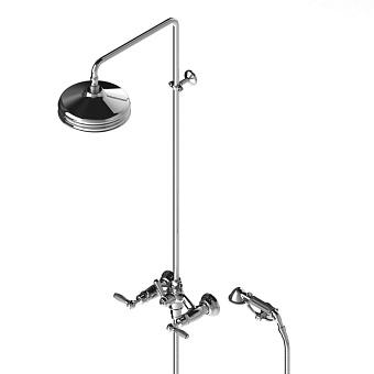Stella Italica Leve Душевой комплект 3284/33-220: смеситель, штанга+ручной+верхний душ 220мм, цвет: хром