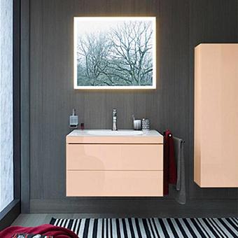 DURAVIT Vero Air Тумба C-bonded 80 см цвет абрикос жемчужный + раковина белая с фронтом цвета абрикос жемчужный