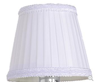 TW 11, абажур для светильника E14, цвет ткани: белый с белым кантом