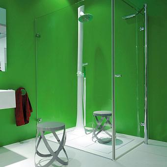 Flaminia Albero Душевая система 38.5x38.5xh238см, верхний и ручной душ, керамика, цвет: белый/зеленый