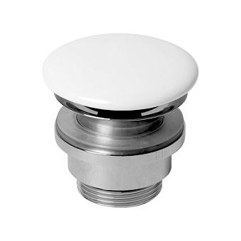 AZZURRA Донный клапан для раковины, с крышкой керамической, цвет: белый