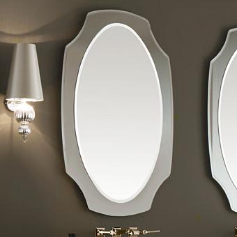 VITAGE milldue edition Зеркало NOTRE DAME 67.8х110см, с фигурной рамой из скошенного дымчатового зеркала