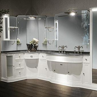 Комплект мебели Eurodesign Hermitage comp. №3 322/128x59xh202 см, столешница категории С K-Work Grigio