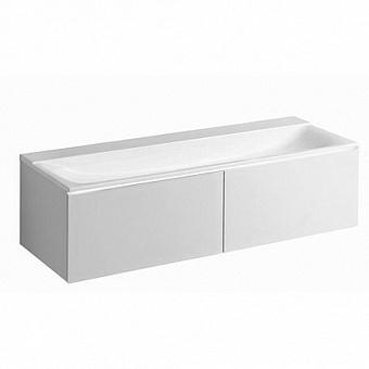 Geberit Xeno² Тумба с раковиной 139.5х35х47.3см, без отв., подвесная, с двумя выдвижными ящиками, цвет: белый /Матовое покрытие