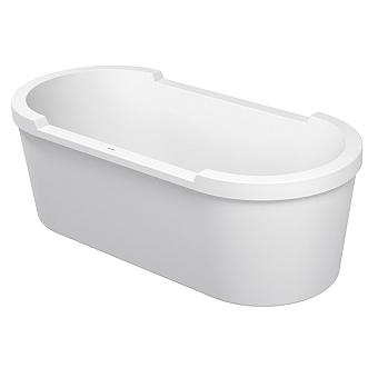 Duravit STARCK Ванна акриловая отдельностоящая 1900x900 mm, с 2 наклонами для спины, с панелью и ножками, цвет белый