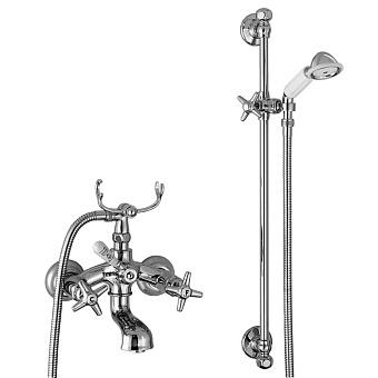 Stella Italica Смеситель для ванны 3274/302/6 со штангой и ручным душем, цвет: хром