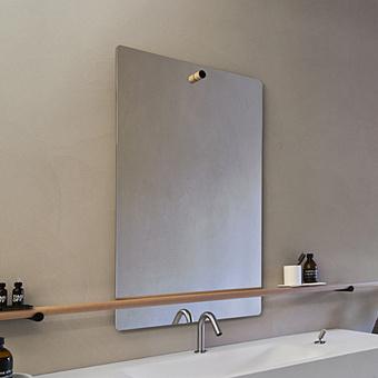 Agape Dot line Прямоугольное зеркало, 110x65см, с полированной кромкой, цвет: черный