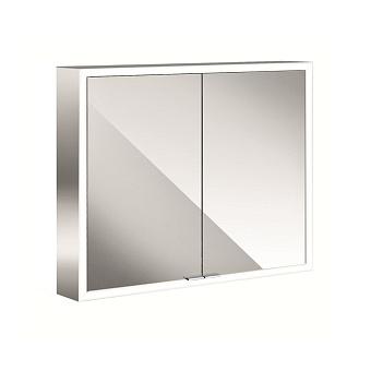 Emco Asis prime Зеркальный шкаф 800х152хh700 мм, навесной, 2 дверки, 2 стекл.полки LED-подсветка сенсорн., розетка, боковые панели зеркало