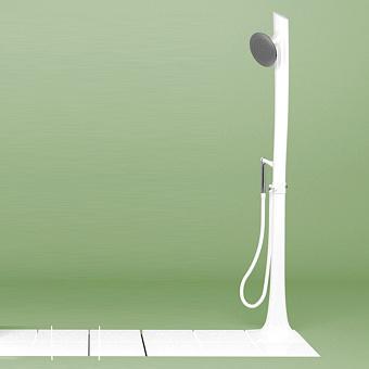 Flaminia Albero Душевая система 38.5x38.5xh238см, верхний и ручной душ, керамика, цвет: белый/хром