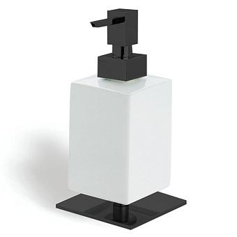 StilHaus Urania Настольный дозатор, цвет: черный матовый/белая керамика