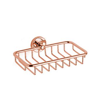 Bertocci Cinquecento Полка-сетка для душа 22х3х12 см, цвет: розовое золото