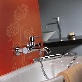 Webert Elio Смеситель для ванны с ручным душем, настенный, цвет: хром