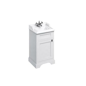 Burlington Classic Тумба с раковиной, 50см, с дверцей, цвет: белый