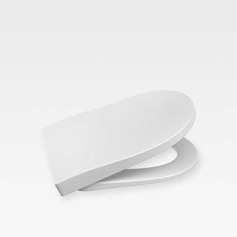 Armani Roca Baia Сиденье лакированное с механизмом плавного опускания, цвет: off-white