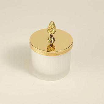 Cristal et Bronze Prestige Баночка из матового стекла с крышкой, цвет: золото