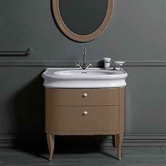 SIMAS Lante Комплект мебели, тумба с двумя ящиками, 90см, Цвет: tortora.