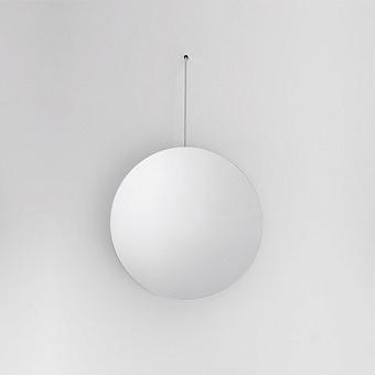 Agape Bucatini Круглое зеркало d50x75 см, на белом держателе, цвет: сатин