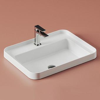 Artceram Fuori Scala Раковина встраиваемая, 60х45см, без отв под смеситель, без перелива, цвет: белый матовый