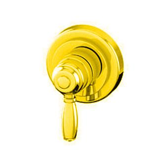 """Petracers Aquadolce, Встраиваемый однорычажный кран 1/2"""" для душа, цвет: золото"""
