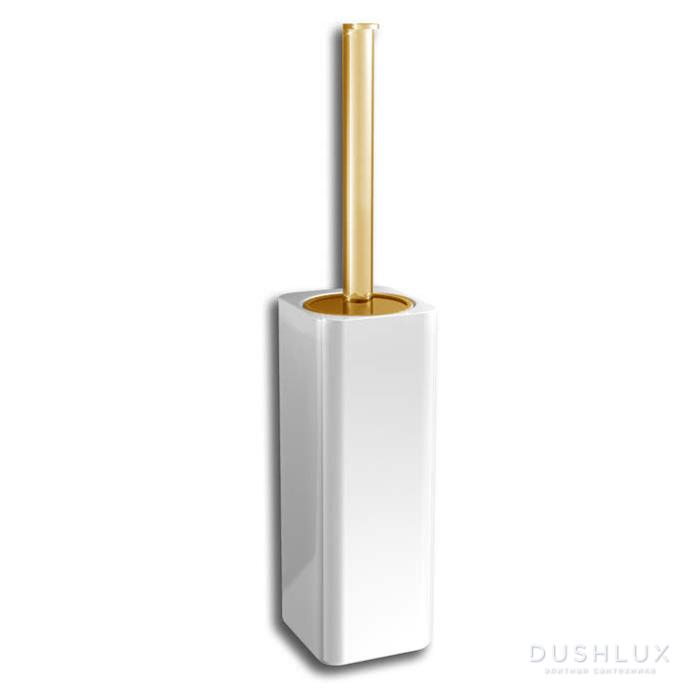 Bertocci Cento Ерш напольный, цвет: белая керамика/золото