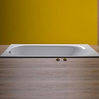 Bette Comodo Ванна 180х80х45 см, с шумоизоляцией, BetteGlasur® Plus, перелив спереди, цвет: белый