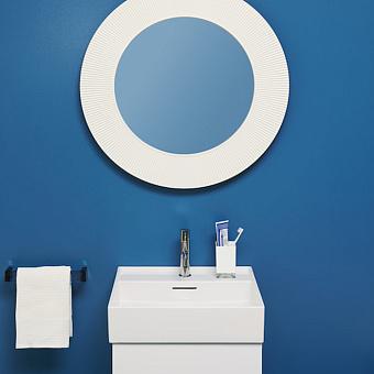 Laufen Kartell Зеркало круглое d=78см, настенное, без подсветки, цвет: белый