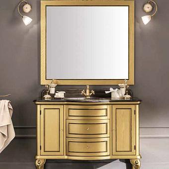 EBAN Sofia Комплект мебели: База под раковину, с раковиной столешницей и зеркалом, 120см, Цвет: Intagliato Oro
