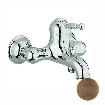 CISAL Arcana Royal Смеситель однорычажный настенный для ванны/душа, цвет бронза