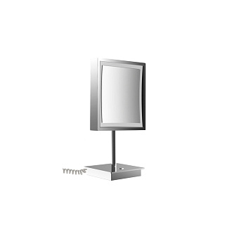 Emco Pure Косметическое зеркало, LED, 203x203 mm, настольный, 3x увелич., подвесное, цвет: хром