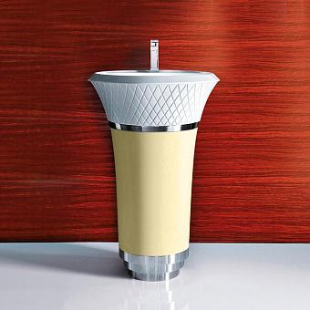 Falper George Раковина напольная 58х58х87 см, выпуск в стену, цвет: кедр