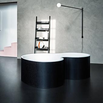 Agape DR Ванна отдельностоящая 183.5x136.5x56.5 см, с отв. для подачи, цвет: темно-серый