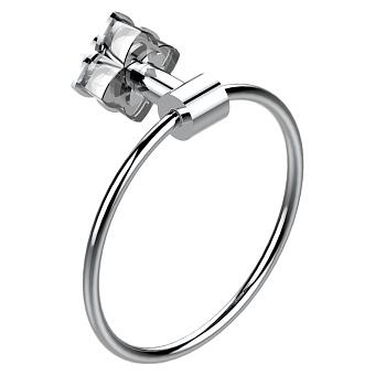 THG Pétale de cristal clair Полотенцедержатель - кольцо, подвесной, цвет: хром/прозрачный хрусталь