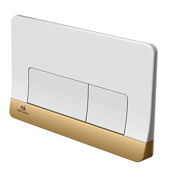 Noken Forma Двойная кнопка смыва, цвет: белый / золото