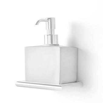 3SC Guy Дозатор для жидкого мыла, подвесной, композит Solid Surface, цвет: белый матовый/белый матовый