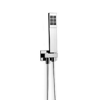 Carimali Гигиенический душ с держателем и шлангом, цвет: хром