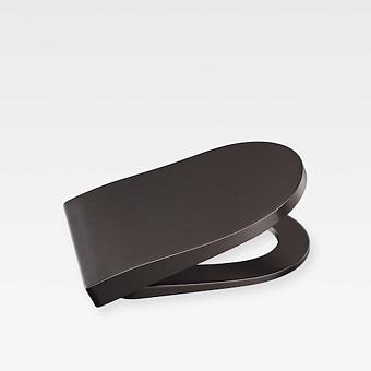 Armani Roca Baia Сиденье лакированное с механизмом плавного опускания, цвет: dark metallic