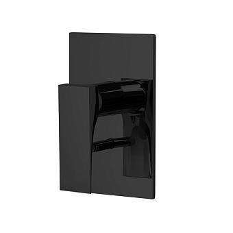Carlo Frattini Zeta Смеситель для душа встроенный, с переключателем на 2 источника, цвет: чёрный матовый
