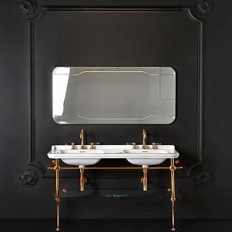 KERASAN Waldorf Консоль с раковиной 150х55см, на 1 отв, цвет: бронза