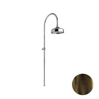 Nicolazzi Doccia Душевая стойка с верхним душем Ø 30см, цвет: тёмная бронза