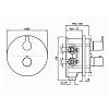 Zucchetti On Встроенный однорычажный смеситель для душа, с запорным клапаном для системы Zeta, цвет: хром
