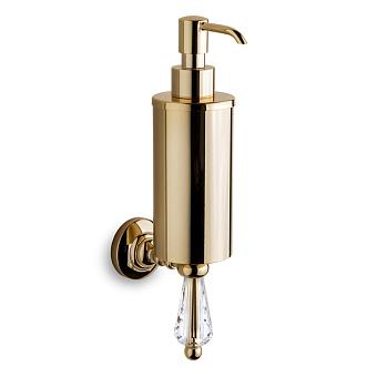 3SC Boheme Дозатор для жидкого мыла, подвесной, цвет: золото 24к. Lucido