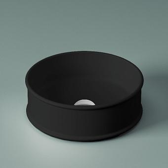 Artceram Atelier Раковина накладная, d44см, без отв под смеситель, без перелива, цвет: черный матовый