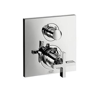 Axor Citterio, Термостат с запорным/ переключающим вентилем, с крестовой рукояткой, СМ, Цвет: хром