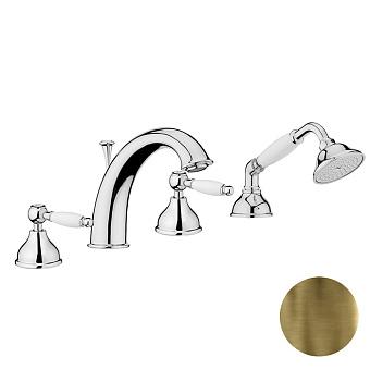 Смеситель на борт ванны Webert Dorian DO730101 Бронза/белый