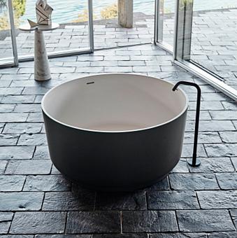 Agape Memory Однорычажный смеситель для ванны, напольный, цвет: черный