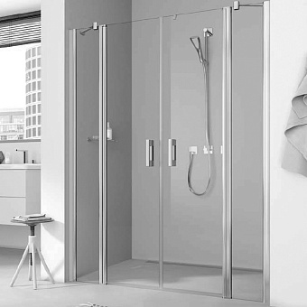 Kermi Pega Душевая дверь 120х200 см, цвет: серебро+прозрачное стекло +clean