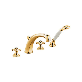 Kludi Adlon Смеситель на борт ванны, на 4 отв., цвет: золото