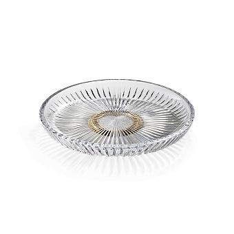 3SC Elegance Лоток универсальный, настольный, цвет: прозрачный хрусталь/золото 24к. opaco